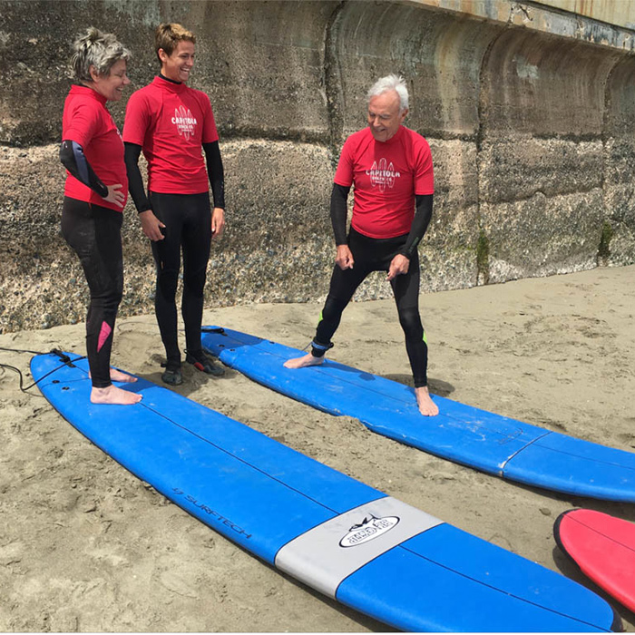 Surfing Capitola CA Family 01