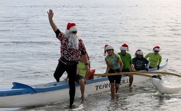 Surfing Santa arrives on Capitola beach - Capitola Soquel Chamber of Commerce Capitola, CA