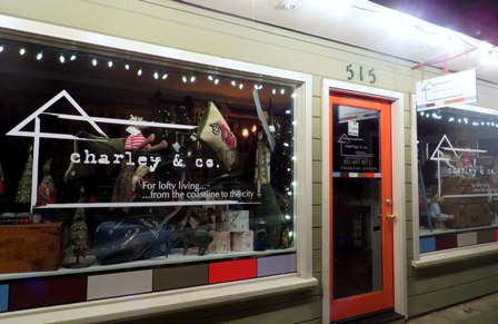 Charley & Co. holiday windows_2014_web - Capitola Soquel Chamber of Commerce Capitola, CA