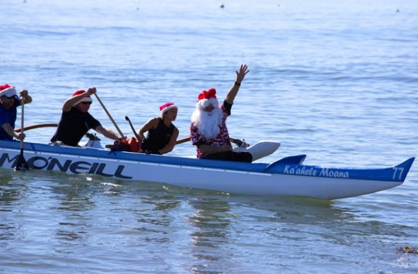Surfin' Santa waves from Outrigger_001_resized - Capitola Soquel Chamber of Commerce Capitola, CA